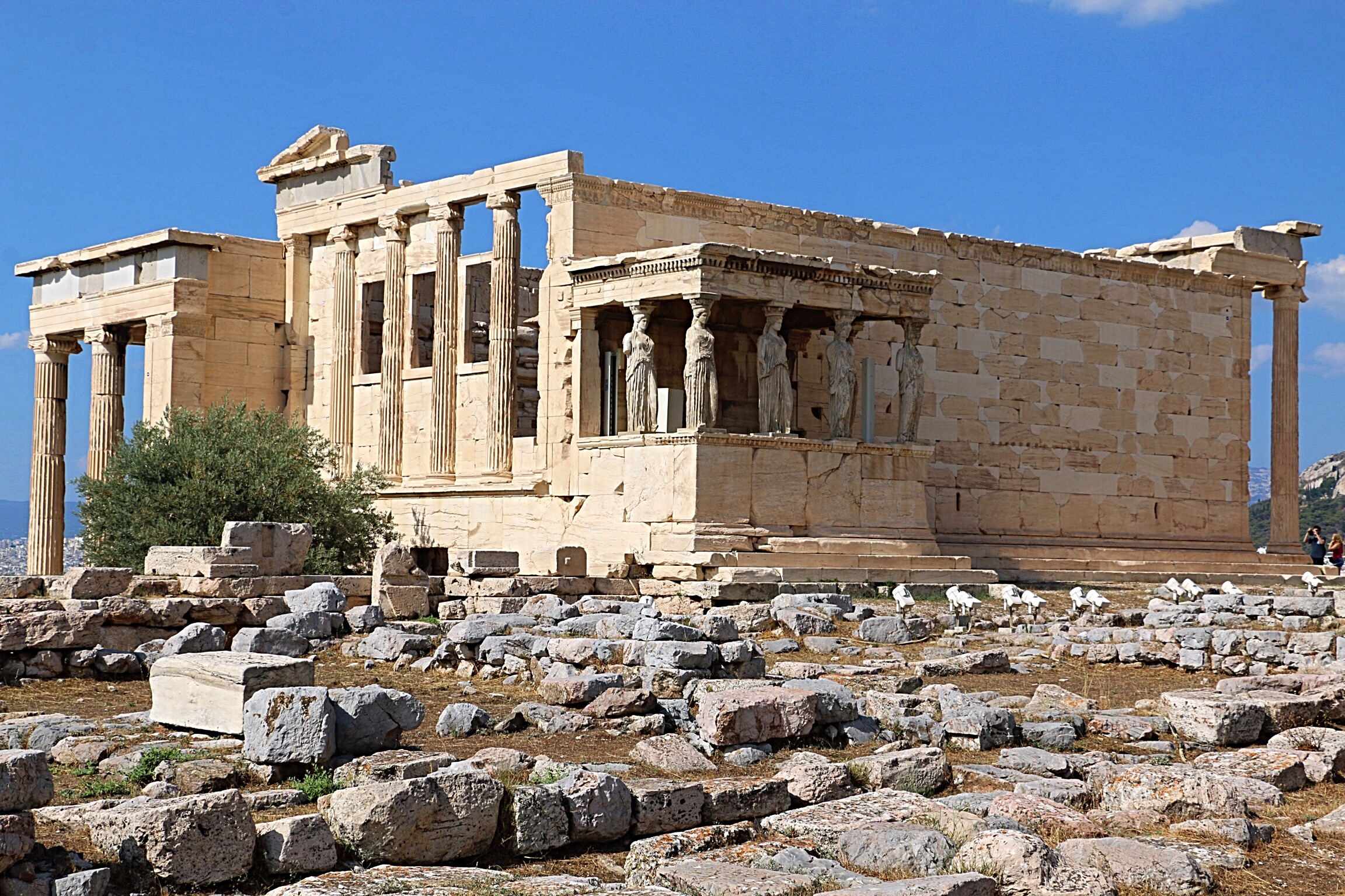 The Erecthion, My Favorite Part Of The Acropolis, Contains The Porch Of The  Maidens Or Caryatids. These Statues Are Copies As Four Of The Original  Statues ...